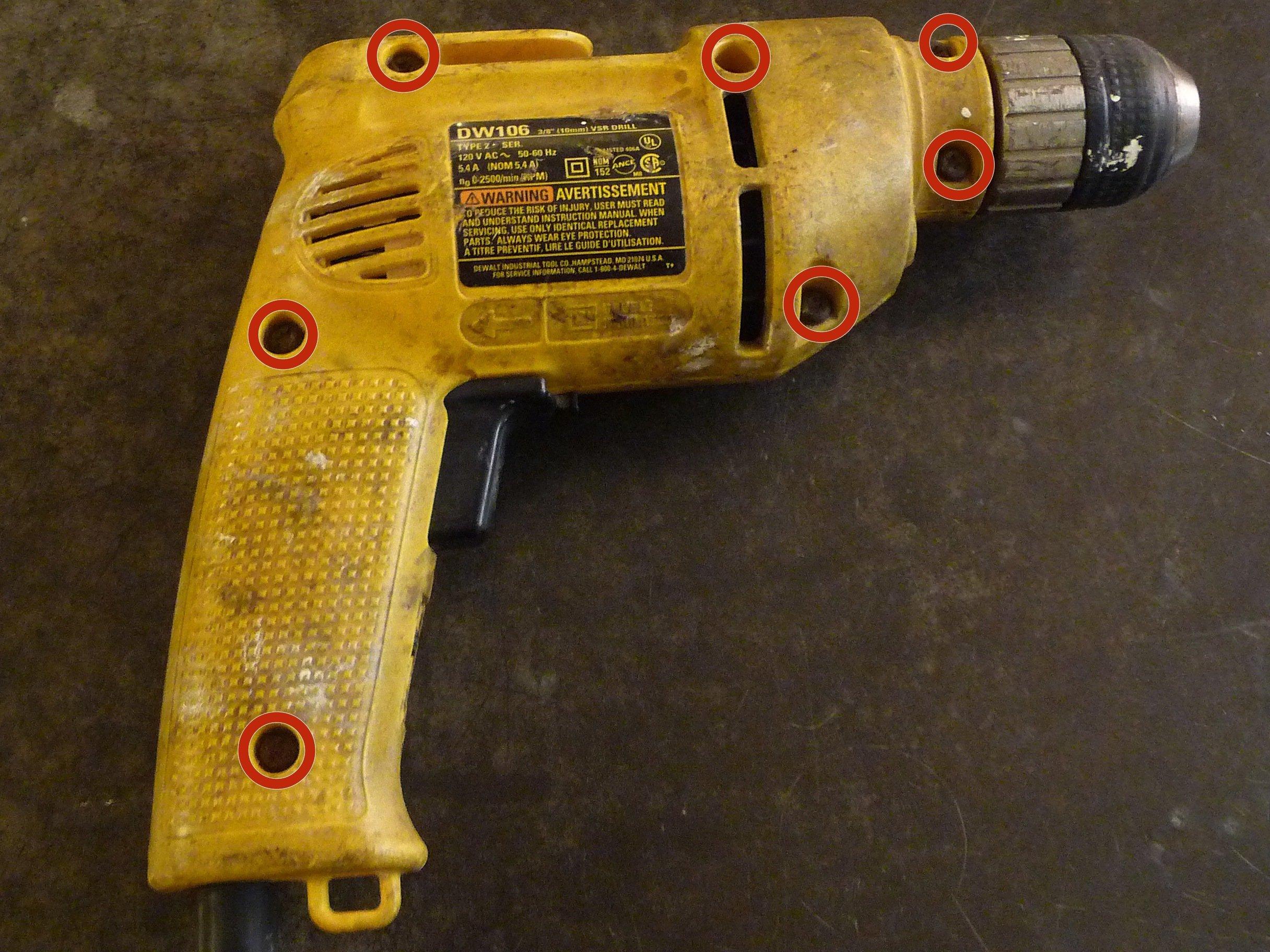 [SCHEMATICS_49CH]  DeWALT DW106 Amp Drill Maintenance - iFixit Repair Guide | De Walt Power Tool Wiring Diagrams |  | iFixit