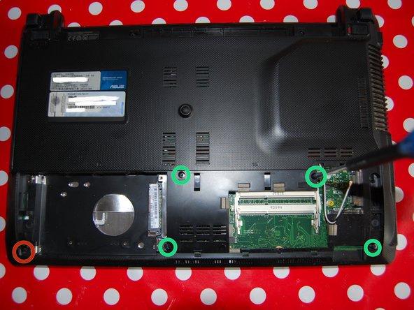 Image 1/2: Remove the single M2X4 screw.
