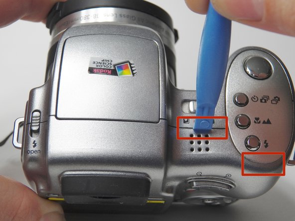 Image 1/3: You may need to use a plastic opening tool as a wedge if it does not come apart by easily.