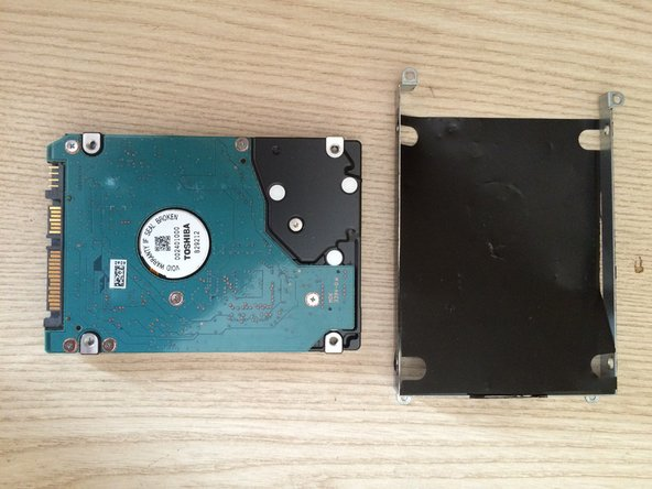 This bracket will be used to hold your new hard drive.