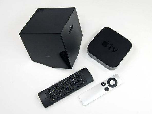 The Boxee Box looks huge when compared to the Apple TV, but it's really not that cumbersome in real life -- the Apple TV is just teeny tiny.