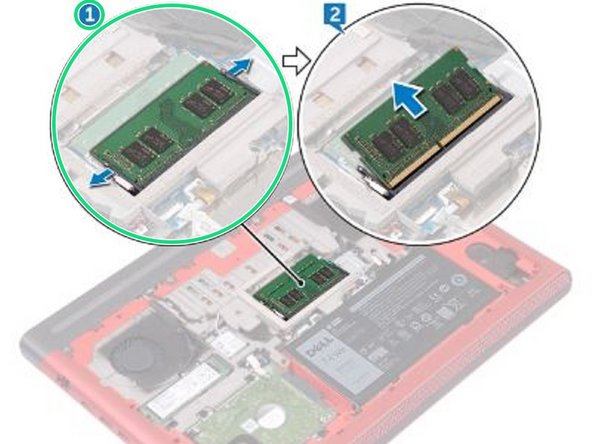 Dell Inspiron 15 Gaming 7567 Memory Modules Replacement