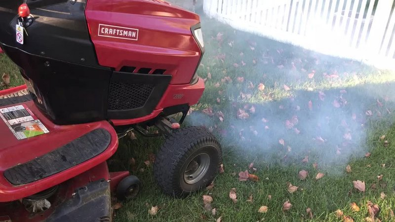 Lawn Tractor Stopped on Hill now smoking - Small Engine - iFixit