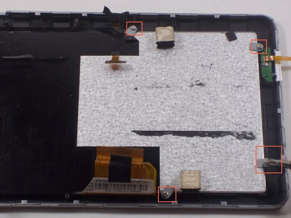 Remove 4 screws on corners of the digitizer and lift off.