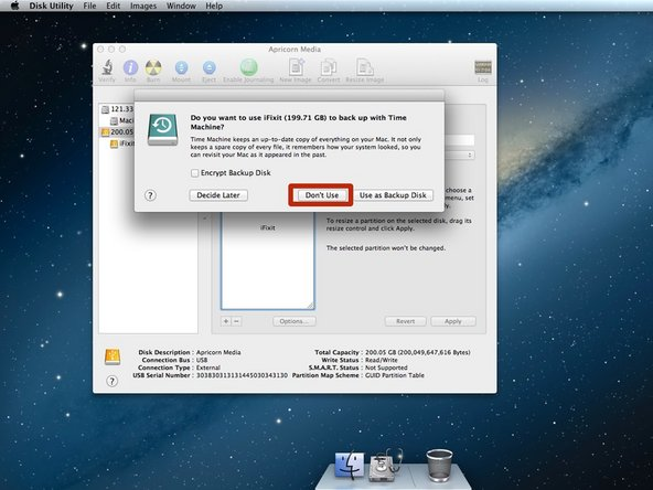 """Click """"Partition"""" on the warning window that has popped up."""