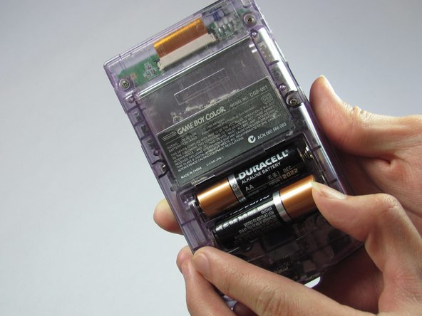 Remove the batteries from the battery compartment.