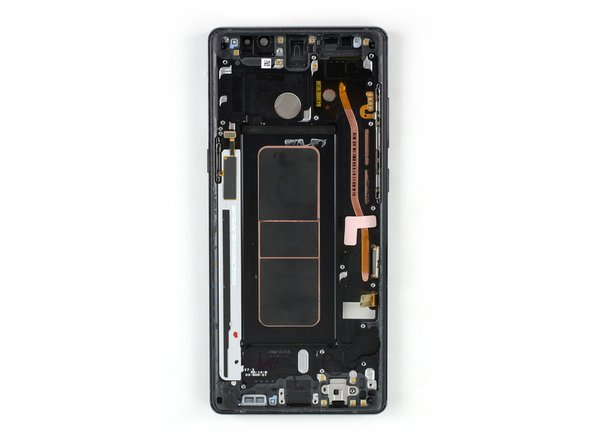 To reassemble your phone transfer all components you removed to the new display assembly with frame. Reapply adhesive where it's necessary.