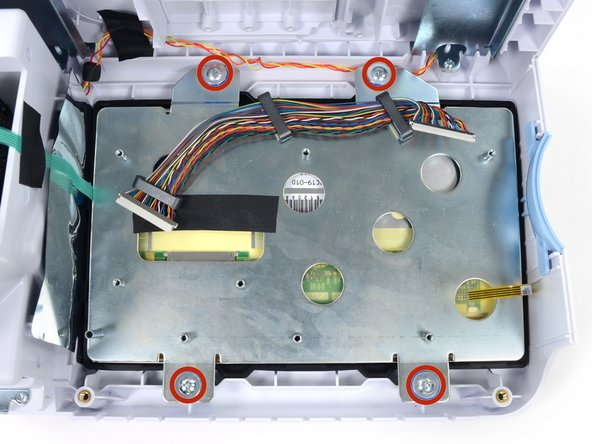 Remove the four Phillips #2 screws from the LCD bracket.