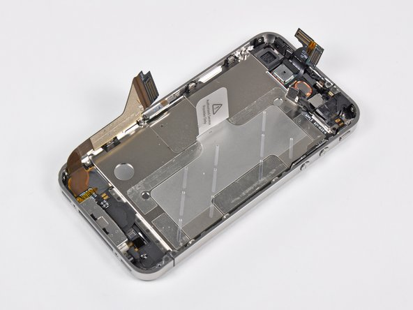 Image 1/1: The dual purpose stainless steel inner frame/antenna assembly addresses possibly the two biggest flaws concerning previous iterations of the iPhone: continuous dropped calls and lack of reception.