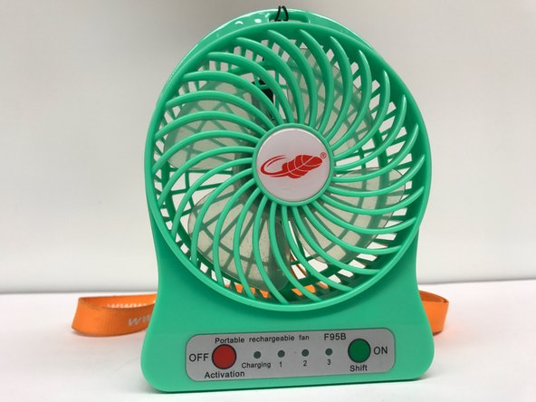 Front of fan consists of two buttons for user interface.
