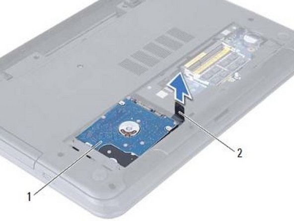 Slide and place the hard-drive assembly in the hard-drive bay.