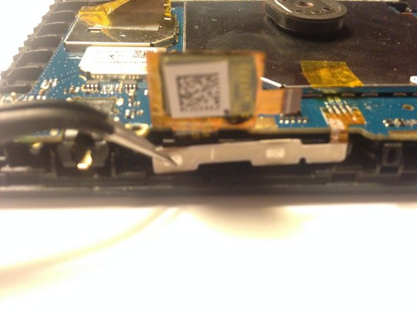 Image 1/2: Lift it up so it will not get caught on anything when the pcb is removed.