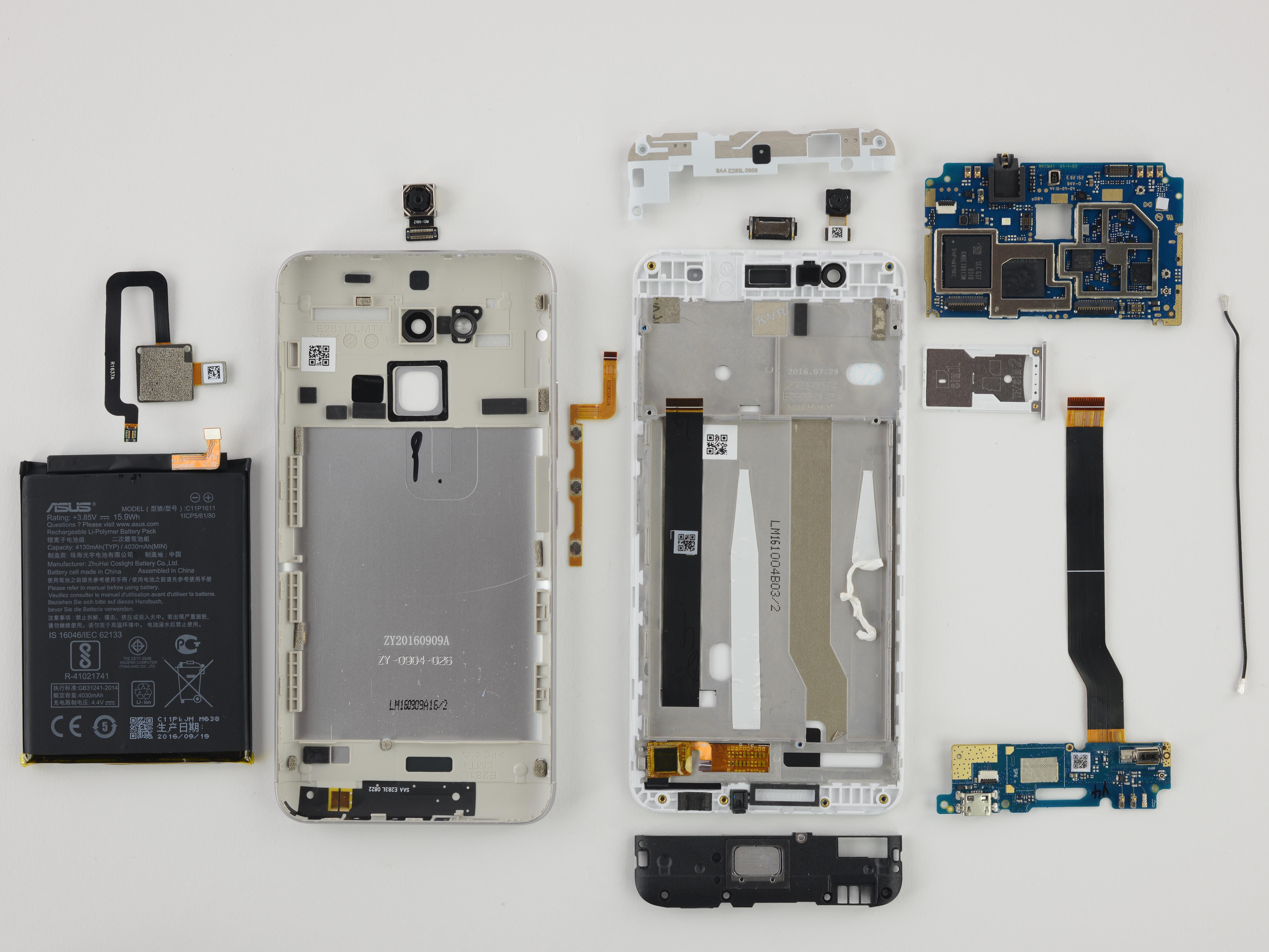 Asus ZenFone 3 Max Repairability Assessment Tutoriel de réparation iFixit