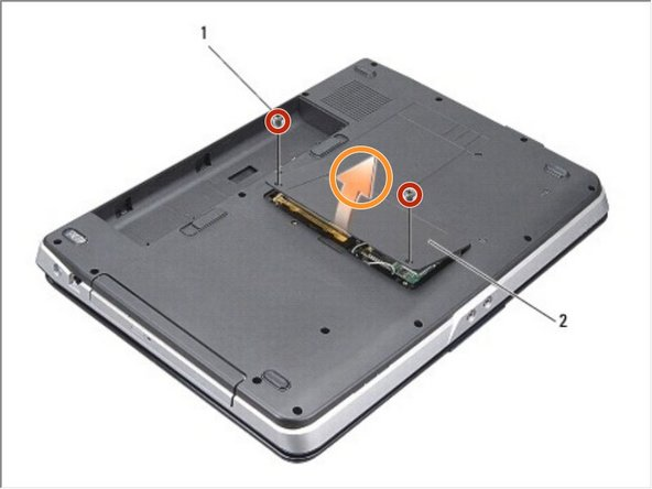 Remove the two screws from the module cover.
