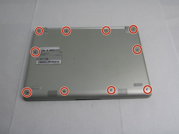 Use a Phillips #00 screwdriver to remove the four 6.5mm screws and the six 4.5mm screws that secure the back plate.