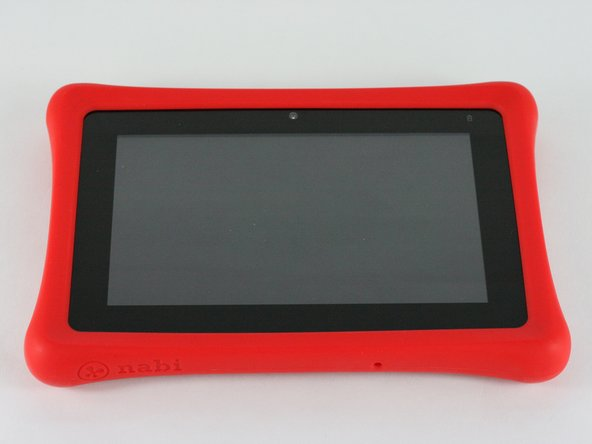 Remove the rubber bumper from the tablet.