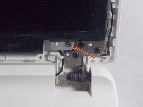 Be sure to unscrew the inner screws attached to the screen and not the outer screws.