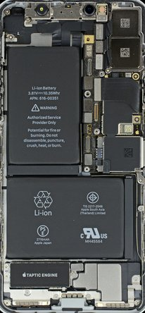 iPhone X internals wallpaper