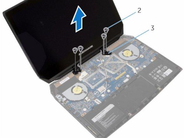 Dell Alienware 13 R2 Reemplazo del ensamblaje de la pantalla