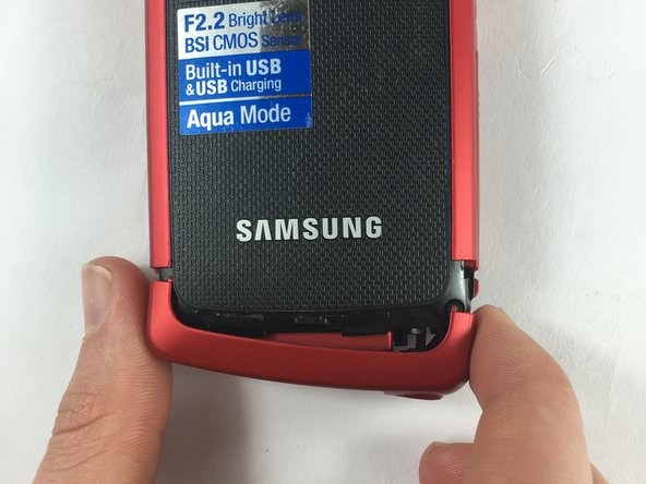 Image 3/3: Make sure to separate all the corners before removing the red casing.