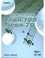 PSR-195, PSR-79 User Manual Owner's Manual
