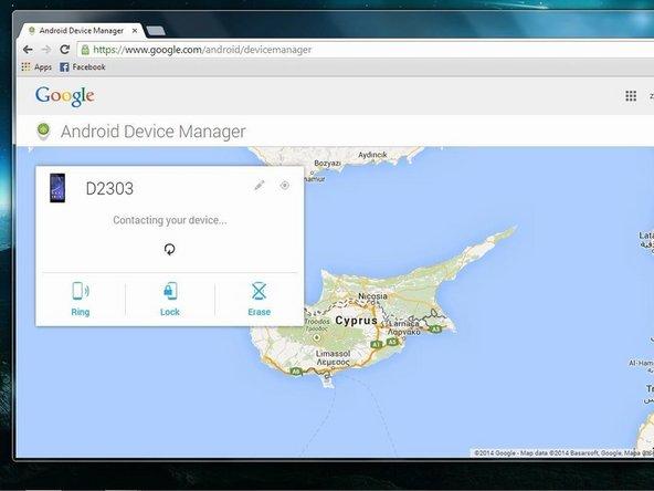 Googleアカウントにログインすると、Googleがデバイスの位置を特定します。