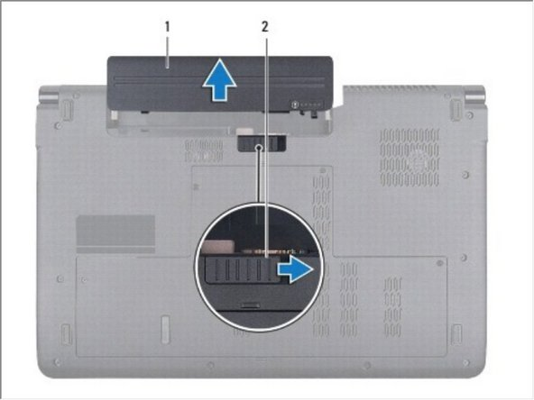 Slide the battery release latch until it clicks into place.