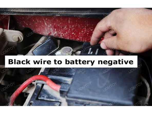 Tap the black wire to battery negative.