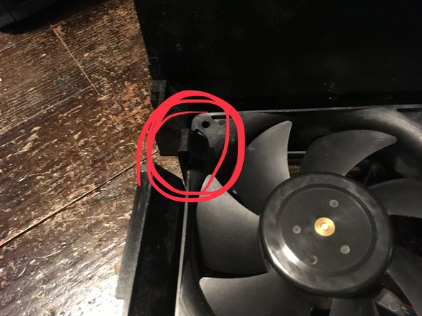 To take the fan out you have to pull the two tabs and pull the fan out.