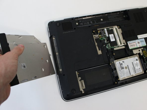 Remove the drive from laptop.