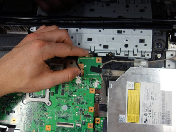 Remove the battery connection chip from the motherboard.