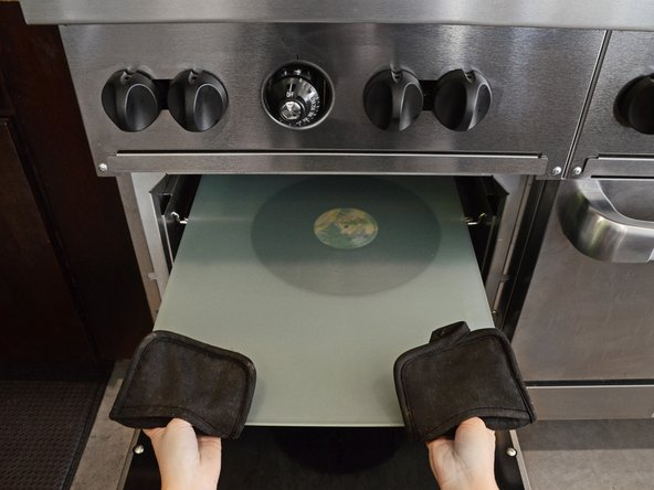 Stay with your record and watch it. If you smell anything funny or hear any strange noises, remove your record from the oven.