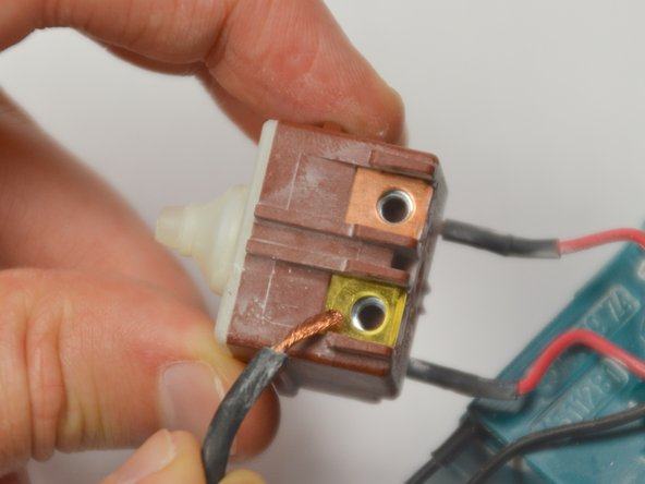 When reassembling, be sure to attach the electrical cabling in the same positions.
