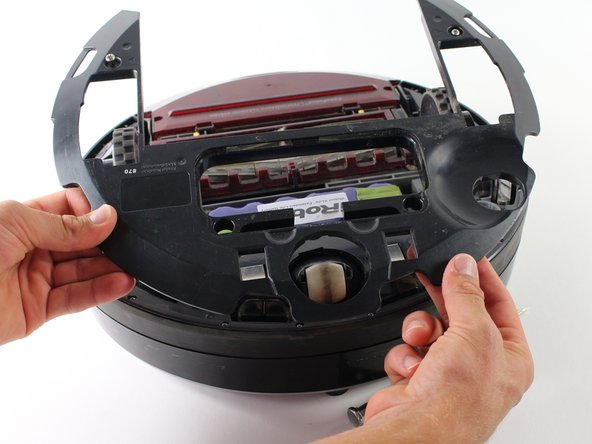 Remove the entire base-plate from the bottom of the Roomba.