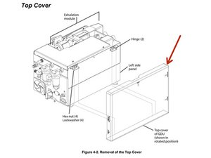 Newport e500 Top Cover Disassembly