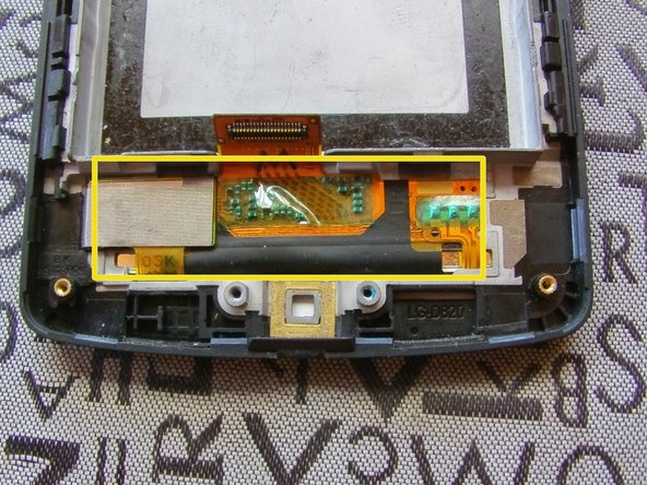 Image 2/2: The flex is strongly stuck on the frame, to remove it warm with a [product|IF145-031-1].