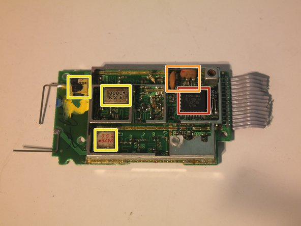 Components inside the wireless module: