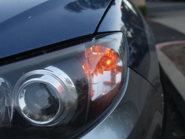 First, check to see if your front-turn signal is not working properly or not bright enough.