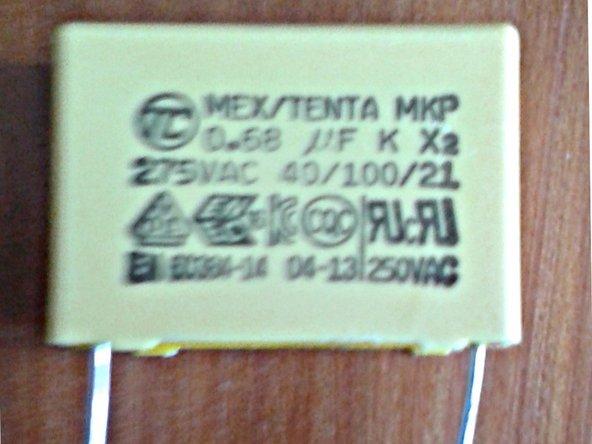 MKP Capacitor X2 (26.5 x 11 x 21 mm) RM 22.5 mm 0.68 microF 275 V AC Main Image