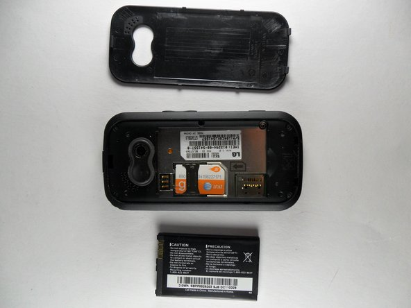 Image 1/1: Once the Battery is removed, purchase a replacement battery and insert the battery back into the phone.