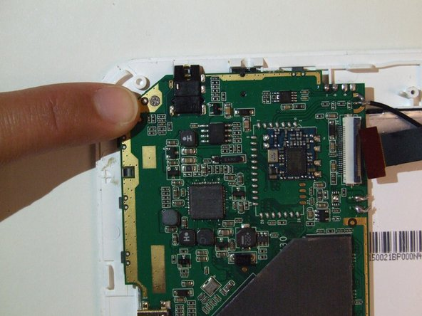 A 2.88 mm phillips head screw will be located in the upper right hand corner of the mother board.