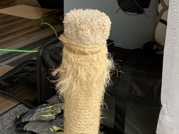 A worn down cat scratching post is neither fun to look at, nor do cats like it. But this a quick and easy fix that uses minimal materials and tools!