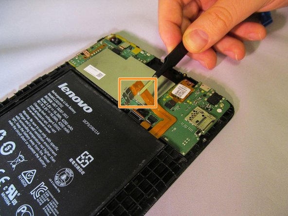 With a pair of tweezers, gently move the battery lead so it will not obstruct the motherboard.