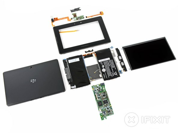 Image 1/2: BlackBerry PlayBook Repairability Score: '''7 out of 10''' (10 is easiest to repair)