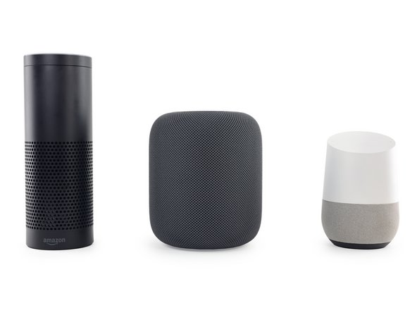 The HomePod may not be the tallest in this lineup, but it's certainly the most ominous.