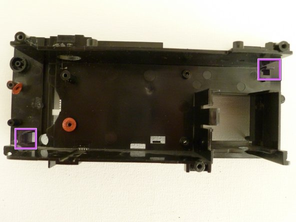 With the digital display and top logic board loose, place the casing face down with the main logic board facing up.