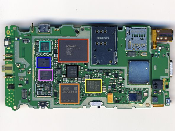 The Nokia N8 motherboard: