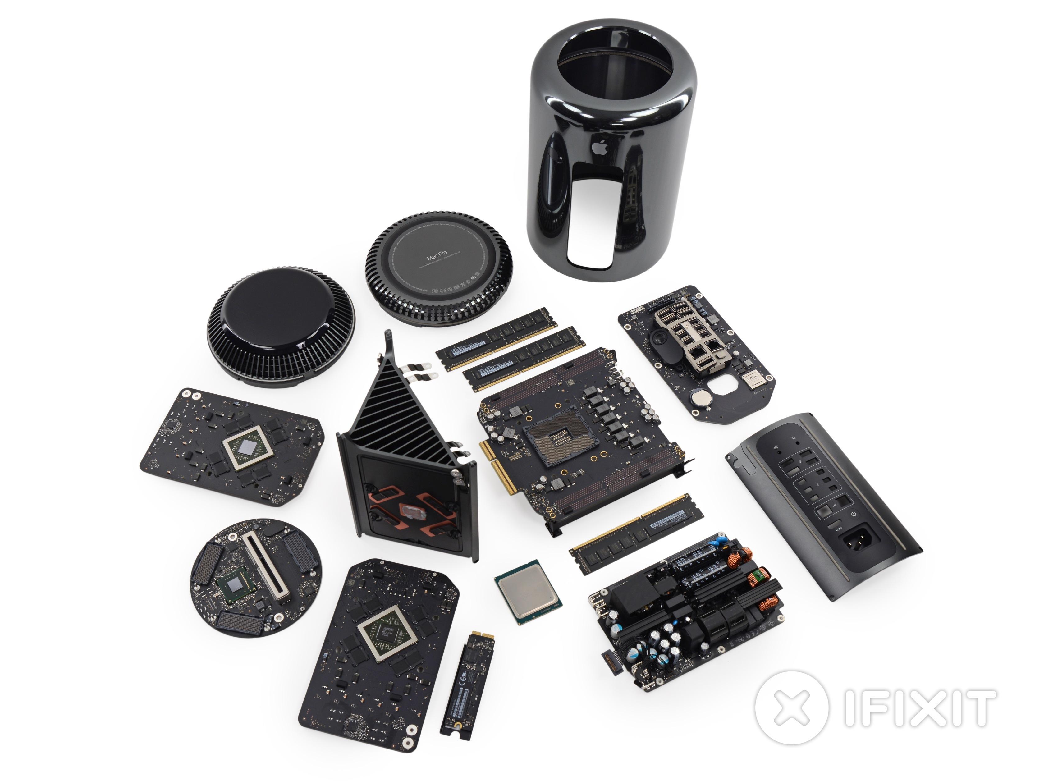 Mac Pro Late 2013 Teardown Ifixit Laptop Hard Drive On A Circuit Board Clock Awesome Combination