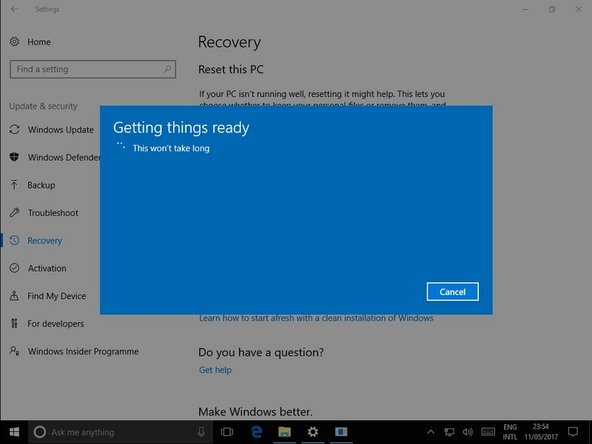 "After a short wait, windows will let you know what apps will be uninstalled. Click ""Next"""