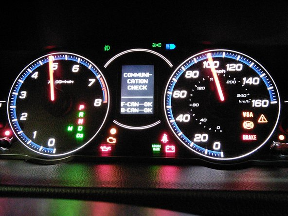Initiate The Instrument Cluster Self Test Ifixit Repair Guide